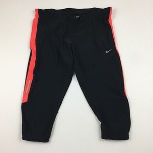 NIKE Dri Fit Black & Pink Athletic Capri Pant